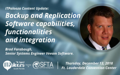 "ITPalooza Content Update: ""Backup and Replication Software capabilities, functionalities and integration"" Brad Farabaugh, Veeam Software"